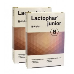 LACTOPHAR JUNIOR : Improves balance of the intestinal flora, improves a barrier effect, improves the immune system